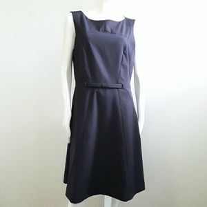 H&M navy blue sheath bow dress